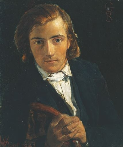 Portrait by Holman Hunt, 1847